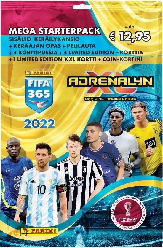 Panini FIFA 365 Adrenalyn XL -aloituspakkaus (jalkapallokortit) 2022