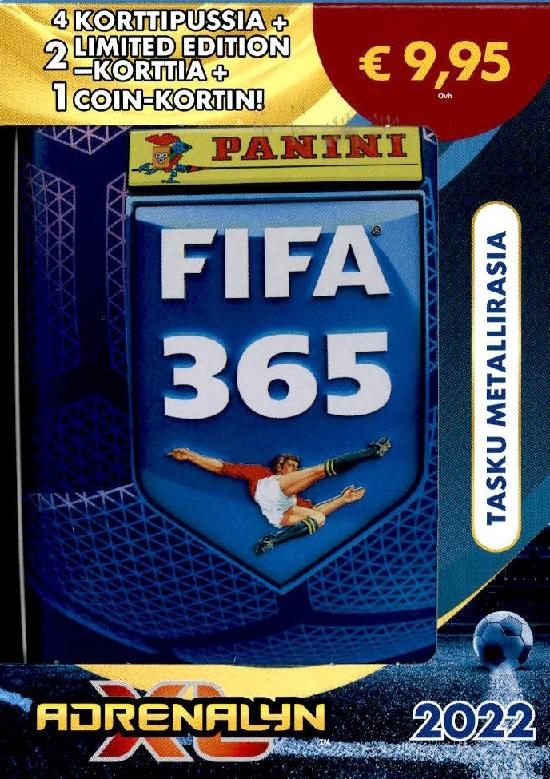 Panini FIFA 365 Adrenalyn XL tasku metallirasia 2022 COLLECTOR'S TIN