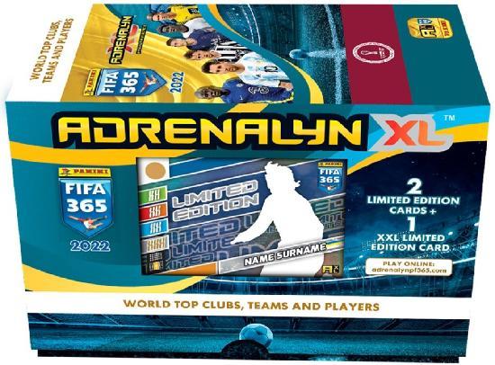 Panini FIFA 365 Adrenalyn XL -lahjalaatikko 2022 WORLD TOP CLUBS,TEAMS AND PLAYERS