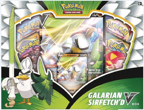 Pokemon keräilykortit -lahjalaatikko Galarian Sirfetch'd V Box