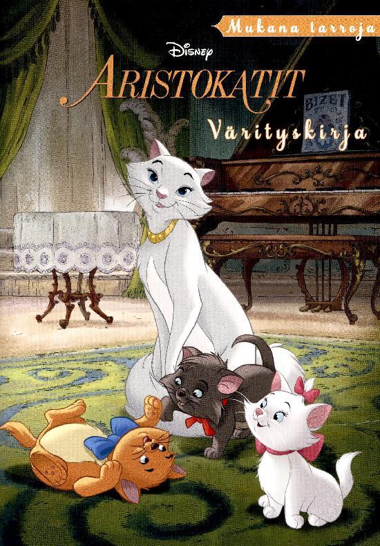 Walt Disney Puuhakirja Aristokatit värityskirja mukana tarroja 2021