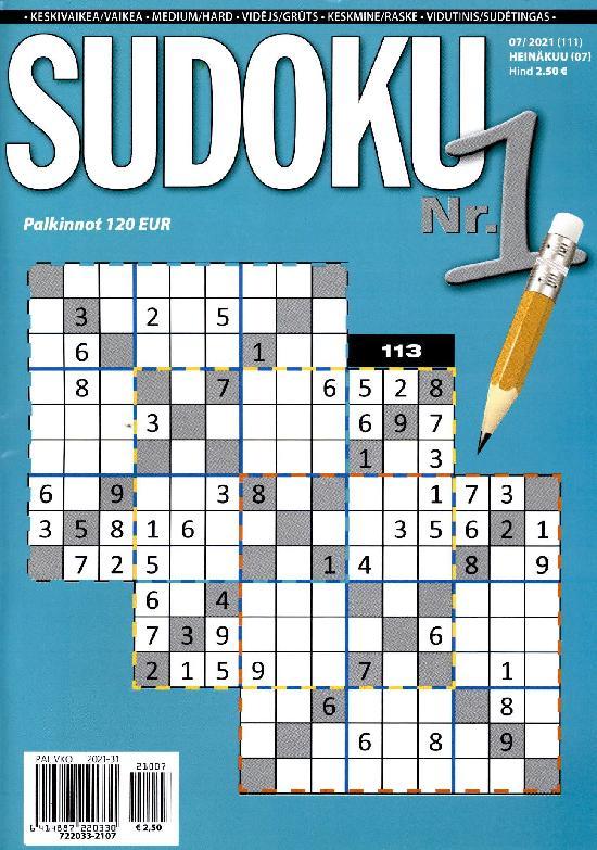 Sudoku Nr. 1 07/2021 (111) HEINÄKUU (07)