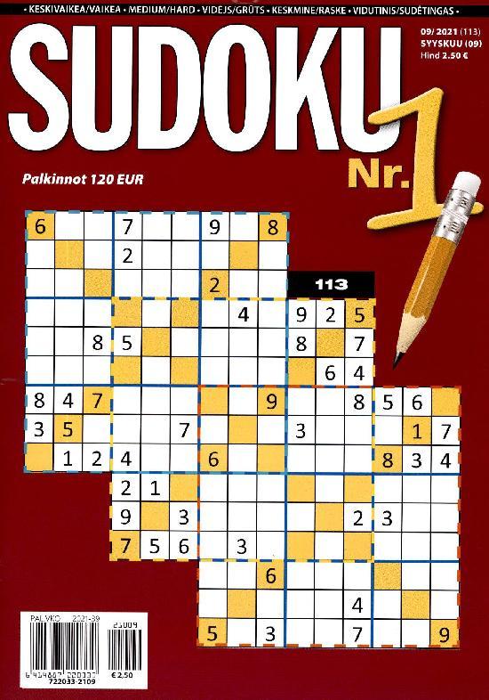 Sudoku Nr. 1 09/2021 (113) SYYSKUU (09)
