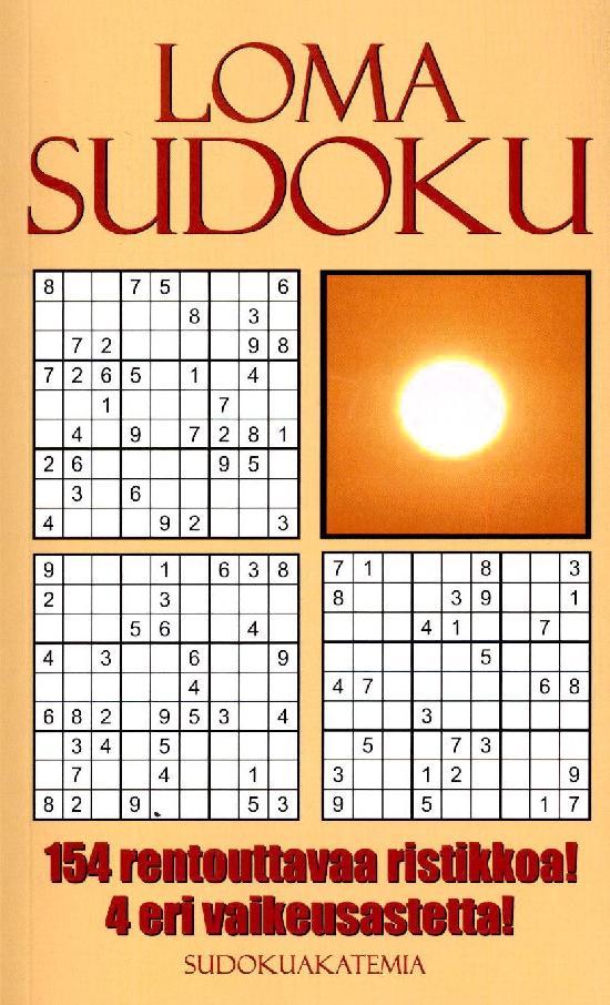 Sudoku Akatemia -pokkari LomaSudoku Extra 1/2021