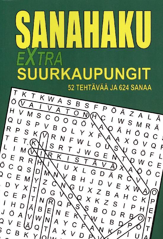 Sanahaku Sanahaku Extra-Suurkaupungit 1/2021 52 Tehtävää ja 624 sanaa