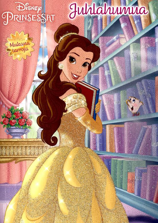 Disneyn Prinsessat Juhlahumua värityskirja 2021 Mukana tarroja!