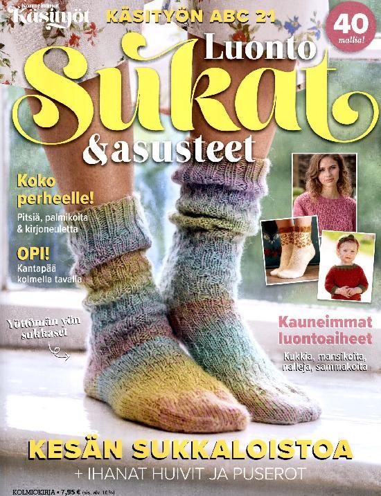 Kauneimmat Käsityöt ABC 2/2021 Käsityön ABC LUONTO Sukat & asusteet