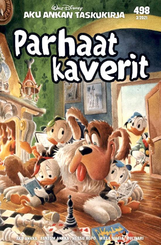 Aku Ankan Taskukirja (uutuus) Nro 498 Parhaat Kaverit