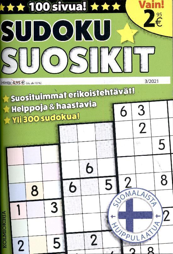 Sudoku-Suosikit 2103