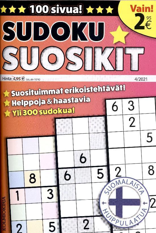 Sudoku-Suosikit 2104