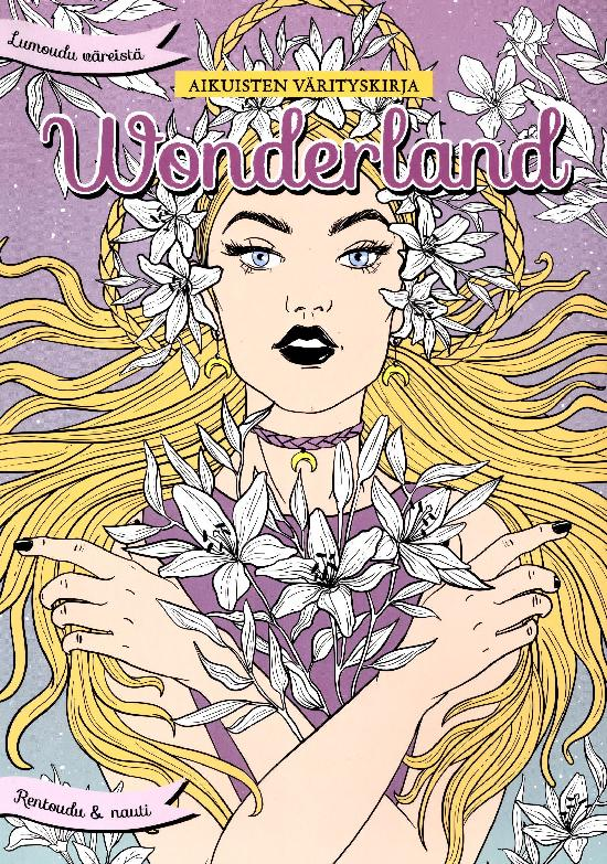 Aikuisten värityskirja Wonderland Osa 23 2/2021 Lumoudu väreistä