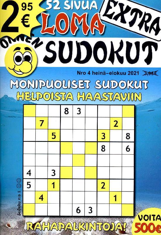Onnen Sudokut Extra Nro 4 heinä-elokuu 2021 LOMA SUDOKUT