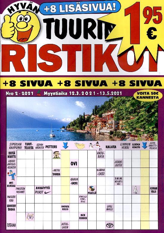 Hyvän Tuurin Ristikot Nro 2-2021 12.3.-13.5.2021