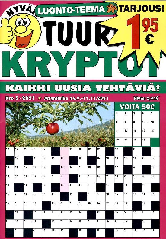 Hyvän Tuurin Kryptot Nro 5 - 2021 14.9.-11.11.2021 LUONTO-TEEMA