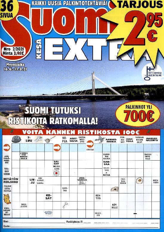 Suomi Ristikot Extra Nro 2/2021 16.6.-13.8.20021 KESÄ