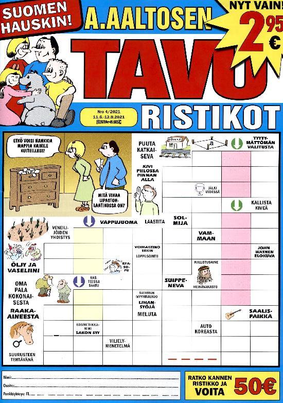 A.Aaltosen Tavuristikot Nro 4/2021 11.6.-12.8.2021