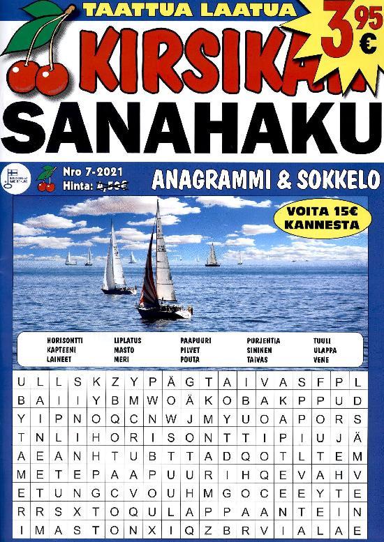 Kirsikan Sanahaku Nro 7-2021 ANAGRAMMI & SOKKELO