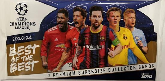 Champions League Best of The Best -keräilykortit 1/2021 7 Premium supersize collector cards