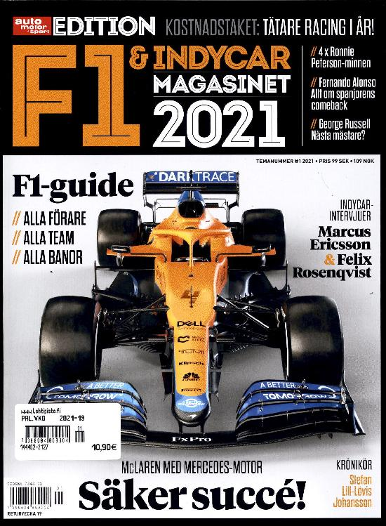 Auto Motor & Sport (Swe) SPECIAL F1 & Indycar magasinet 2021