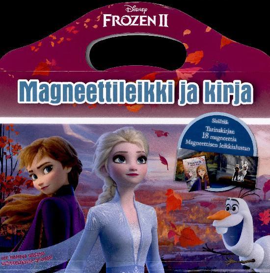 Frozen 2 Magneettileikki ja kirja 1/2020 Tarinakirja, 18 magneettia & leikkialusta