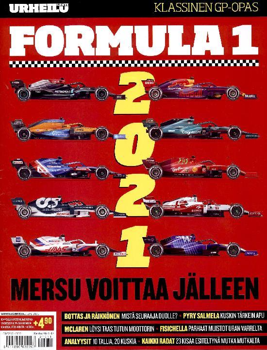 Urheilulehti Ekstra Formula 1 2021 KLASSINEN GP- OPAS