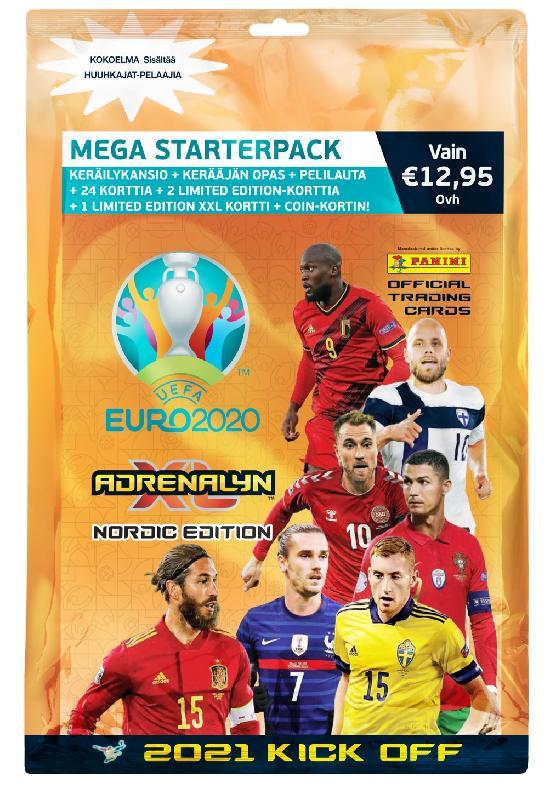 Euro 2020 Adrenalyn XL -aloituspakkaus (kortit) 2021 Kick Off