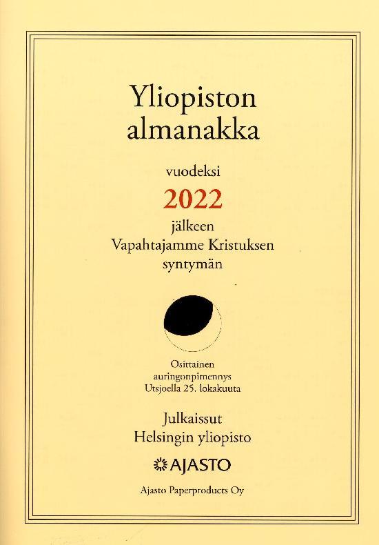 Yliopiston Almanakka (A4) 2022