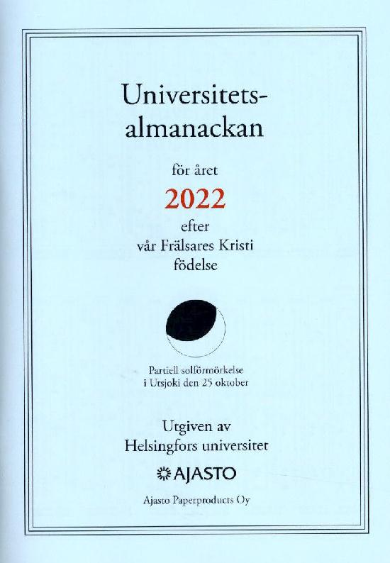 Universitetsalmanackan 2022