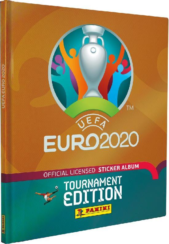 Euro 2020 Tournament Edition -keräilyalbumi (kovakantinen,tarrat) 1/2021