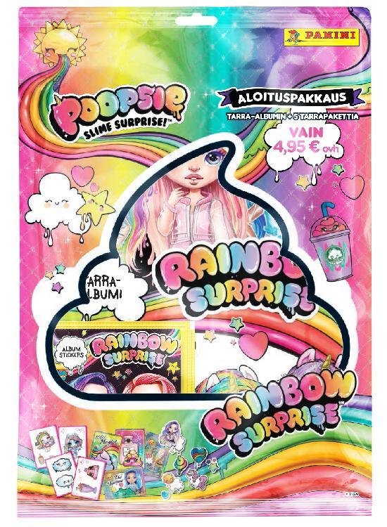 Poopsie Rainbow Surprise -aloituspakkaus (tarrat) Slime Surprise 2021