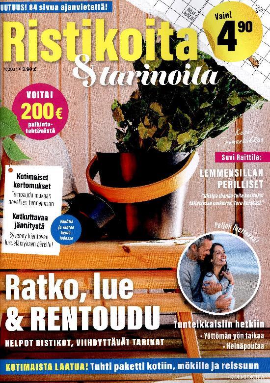 Ristikoita & Tarinoita 1/2021 Ratko, lue & rentoudu