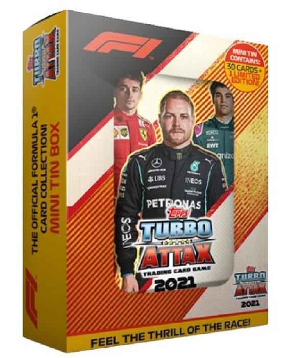F1 Turbo Attax -tasku metallirasia (kortit)