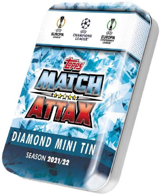 Champions League Match Attax Mini Tin Diamond/Emerald/Ruby/Sapphire SEASON 2021/22