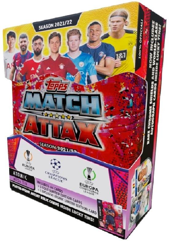 Champions League Match Attax Mega tin Atomic/Aqua/Lava/Lightning SEASON 2021/22