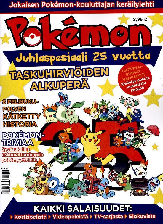 Pokemon Juhlaspesiaali 25 vuotta 2021 Jokaisen Pokemon-kouluttajan keräilylehti