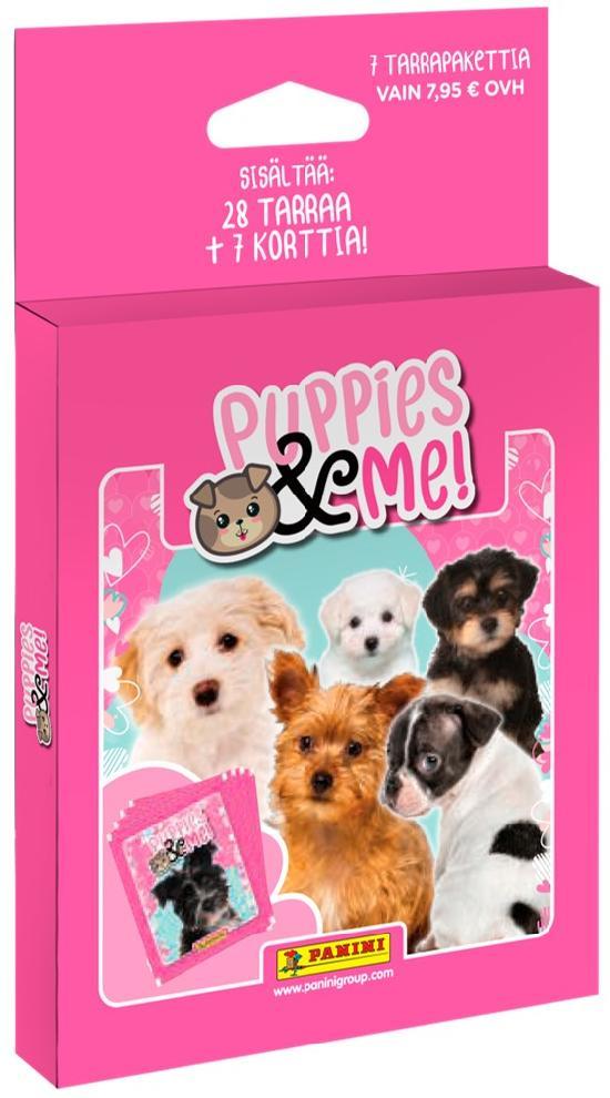 Puppies & Me! -7 tarrapaketin laatikko 2021 Sisältää 28 tarraa+7 korttia!
