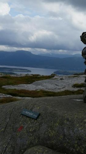 Utsikt fra Hodnafjellet