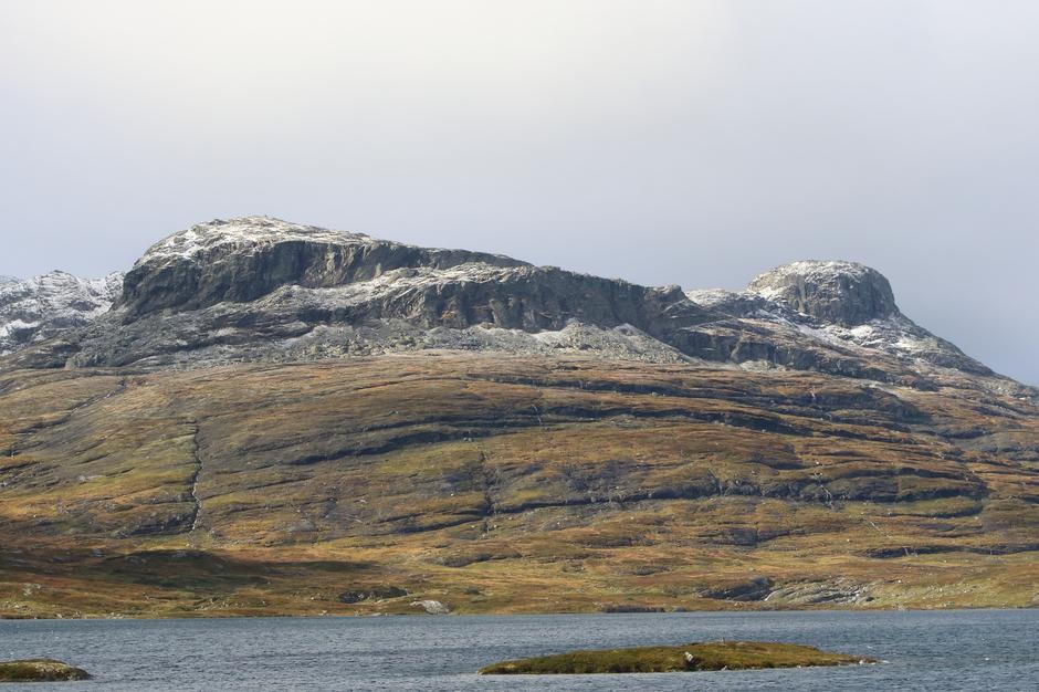 Litt snø på toppen av Kista 1312 moh ved Haukeliseter