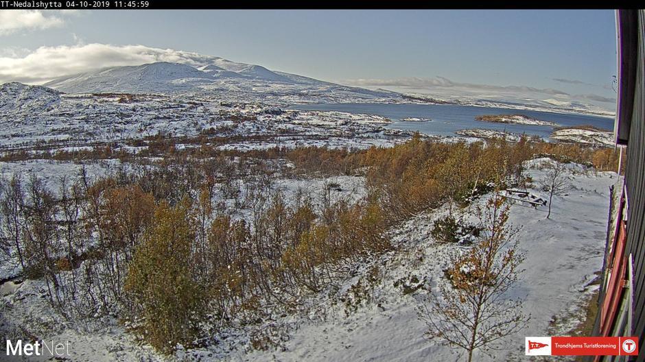 Fra webkameraet på Nedalshytta.