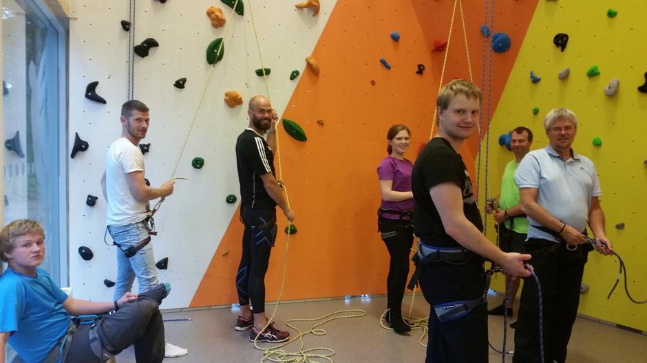 Ny klatrevegg i MessehallA