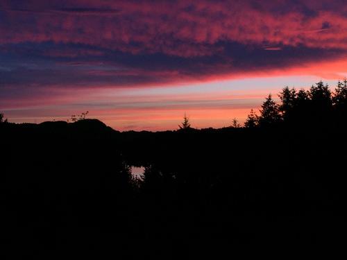 Solnedgang fra Halland