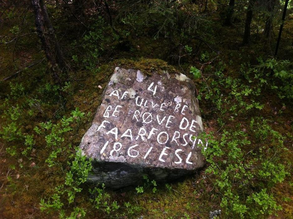 Ulvesteinen i Bergeberget, Elverum