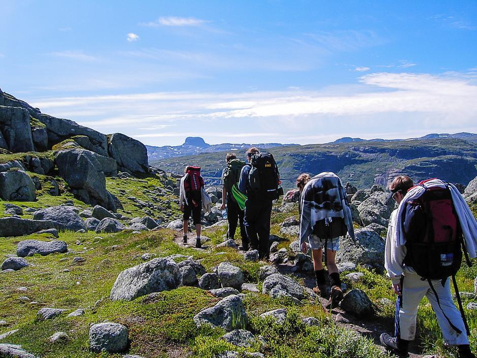 På Hardangervidda med Hårteigen i horisonten