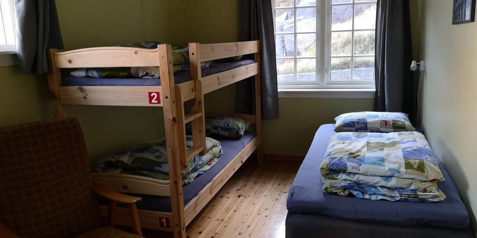 Stormhuset rom nr. 2, 3 sengs