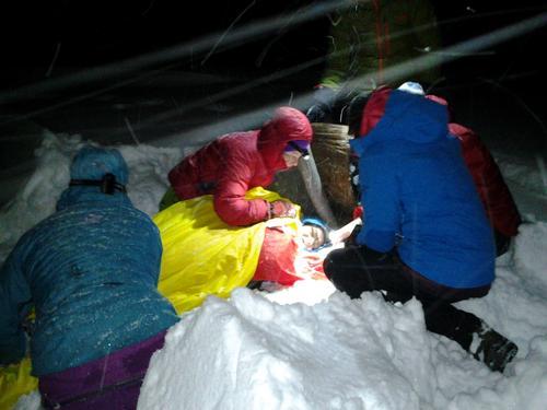 Hurtig hjelp i snøen er avgjørende