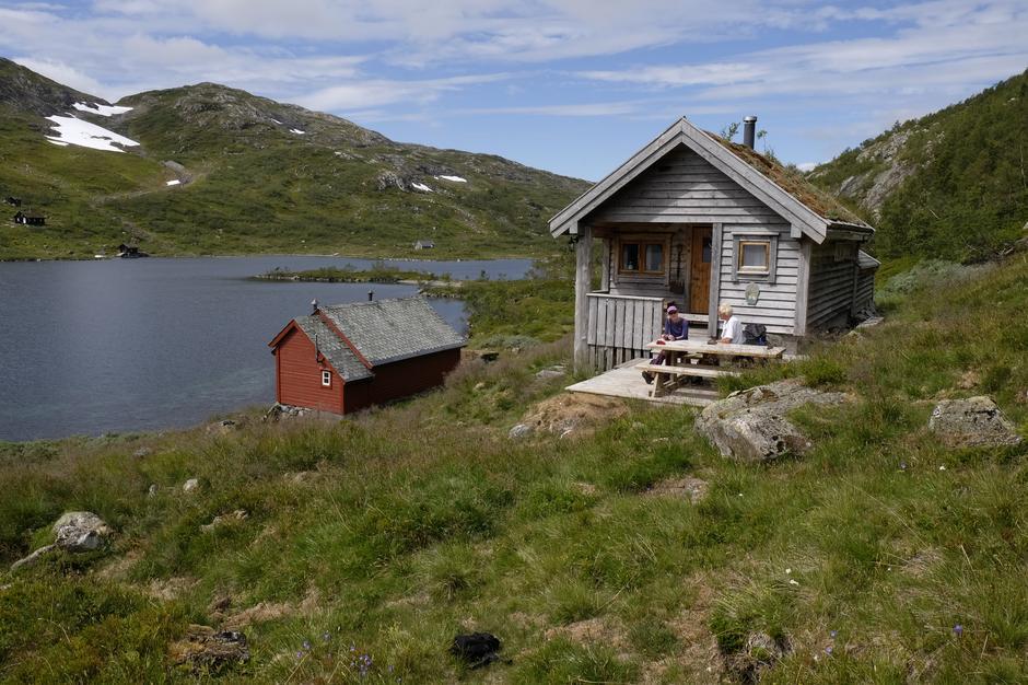 Ved BT-hytten på Vesete