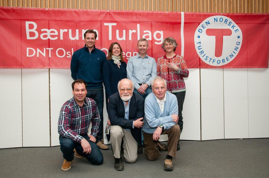 Styret 2013: Bak fra venstre: Johan fegri, Gunnhild Holmen, Andreas Eriksen, Liv Frøysaa Moe. Foran fra venstre: Christian Fuchs, Einar Skage Andersen (leder), Tor-Herman Næss (nestleder)