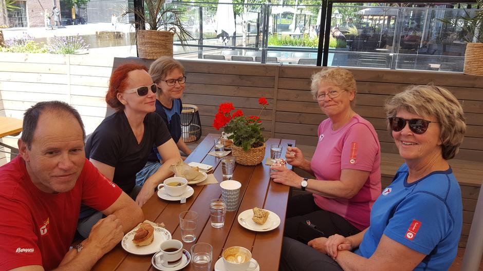 Kafébesøk i Drammen.