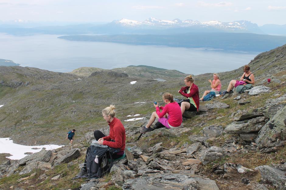Lunsj med utsikt utover Ofotfjorden