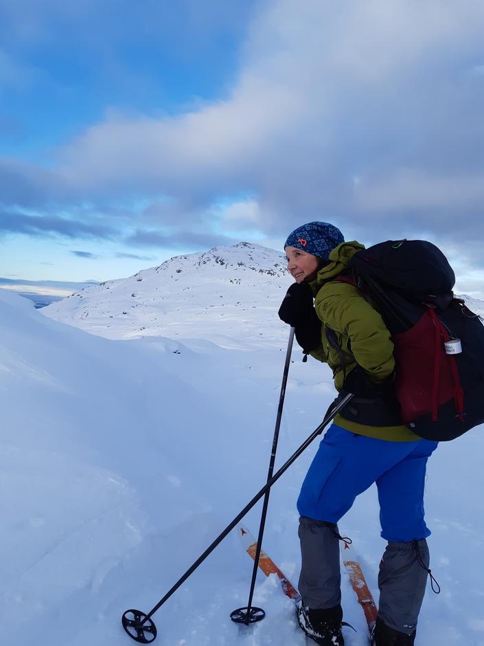 Hvilepause før siste stigning opp til toppen av Tysnessåta.